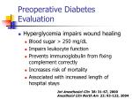 preoperative diabetes evaluation27