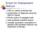 screen for postoperative delirium62