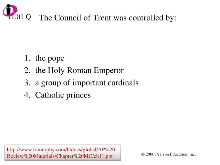 the council of trent was controlled by n.