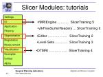 slicer modules tutorials