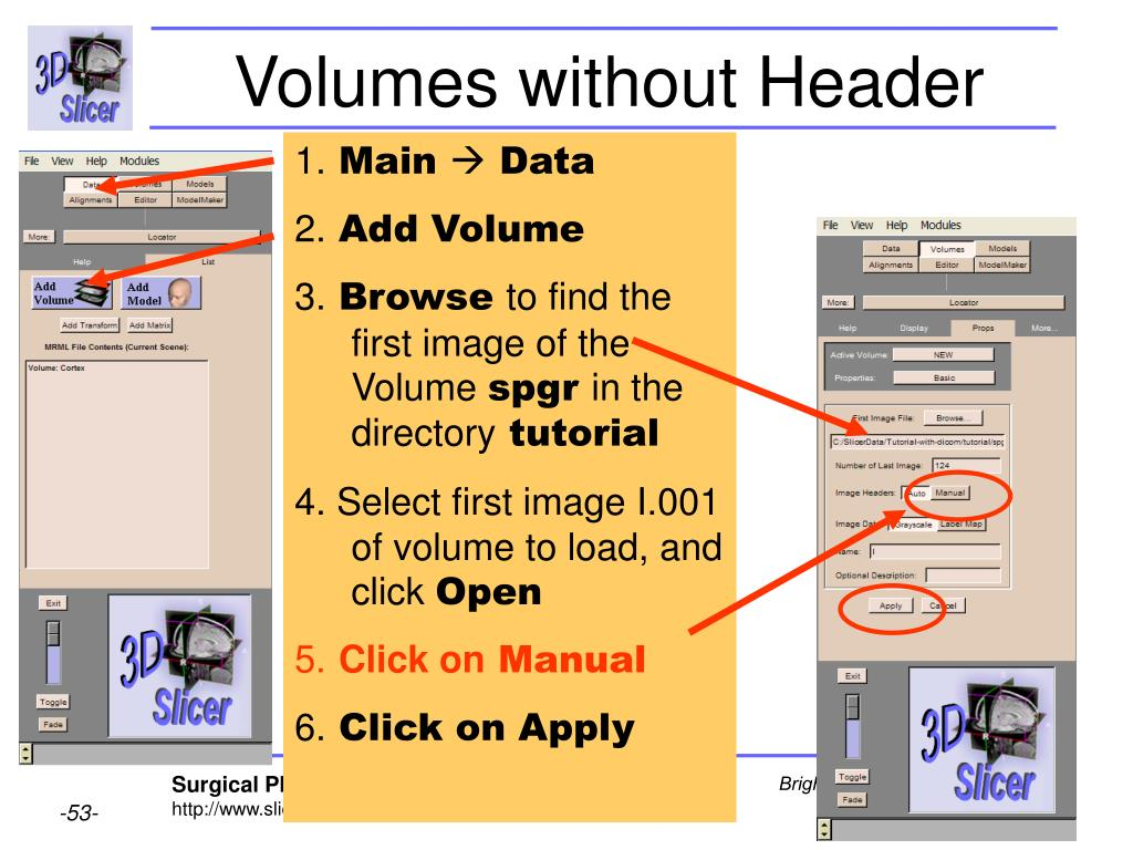 Volumes without Header