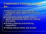 constructive listening is useful for