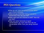 pes questions