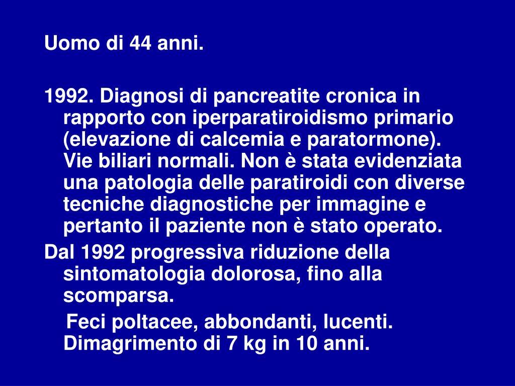 iperparatiroidismo e improvvisa perdita di peso