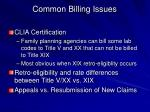 common billing issues