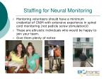 staffing for neural monitoring