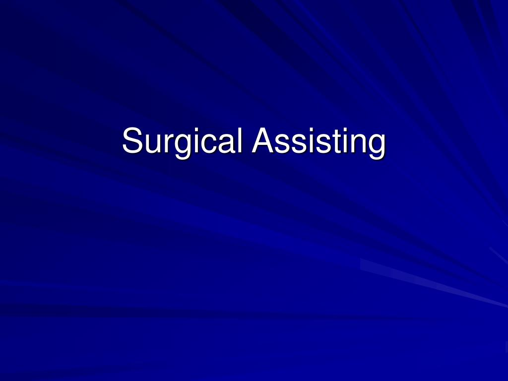 surgical assisting l.