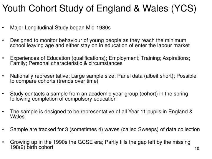 Youth Cohort Study of England & Wales (YCS)