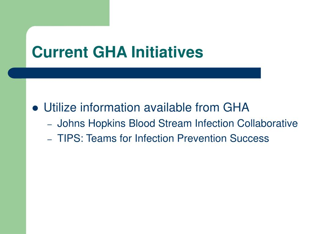 Current GHA Initiatives