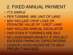 2 fixed annual payment