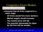 competitive factor markets13