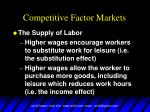 competitive factor markets17
