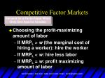 competitive factor markets7