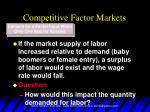 competitive factor markets8