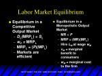 labor market equilibrium1