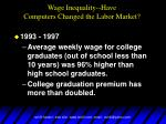 wage inequality have computers changed the labor market5