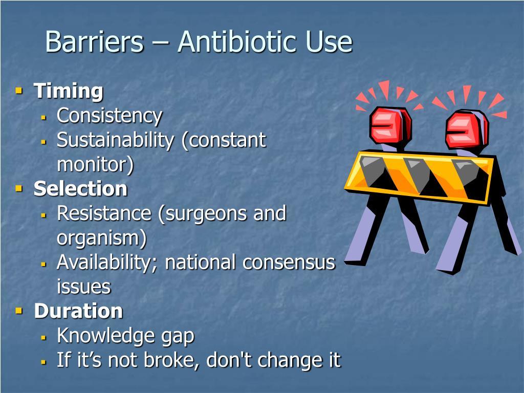 Barriers – Antibiotic Use