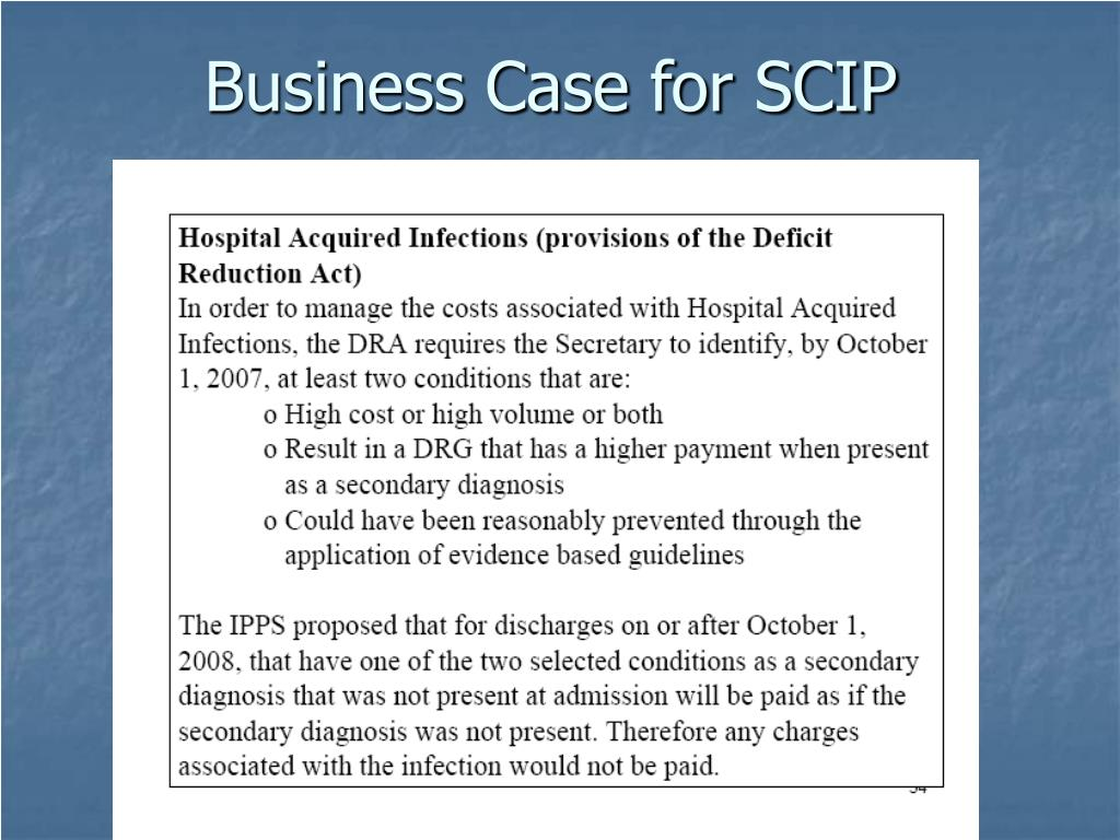 Business Case for SCIP