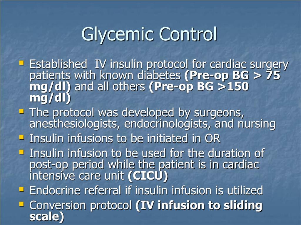 Glycemic Control