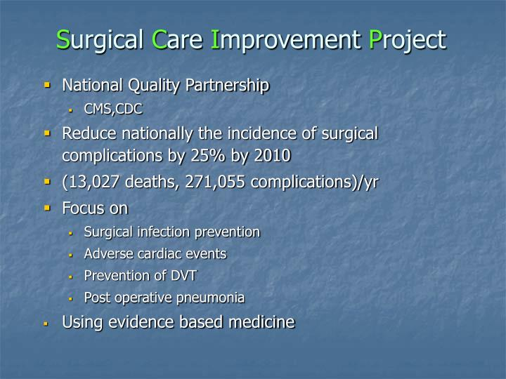 S urgical c are i mprovement p roject