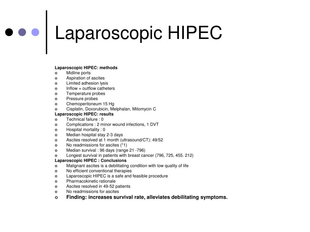 Laparoscopic HIPEC