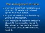 pain management at home