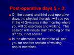 post operative days 2 3