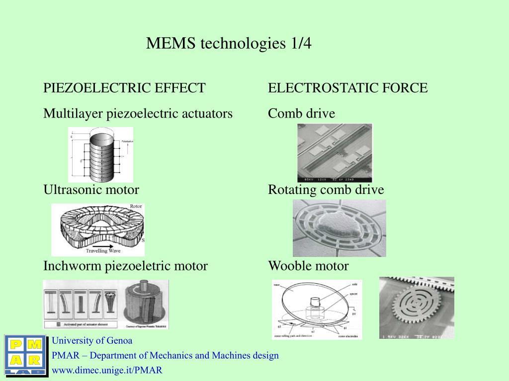 MEMS technologies 1/4