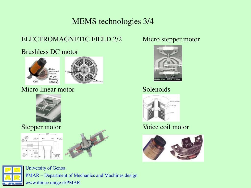 MEMS technologies 3/4