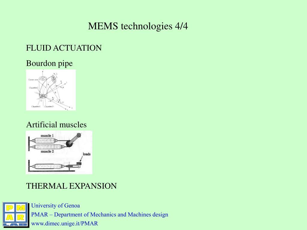 MEMS technologies 4/4
