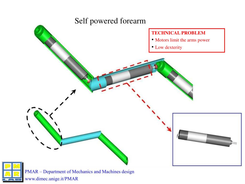 Self powered forearm