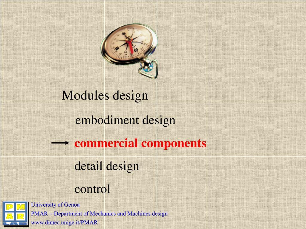 Modules design