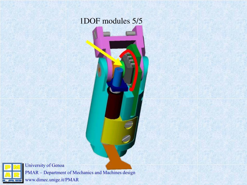 1DOF modules 5/5