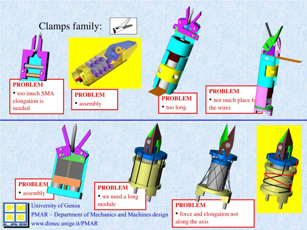 Clamps family: