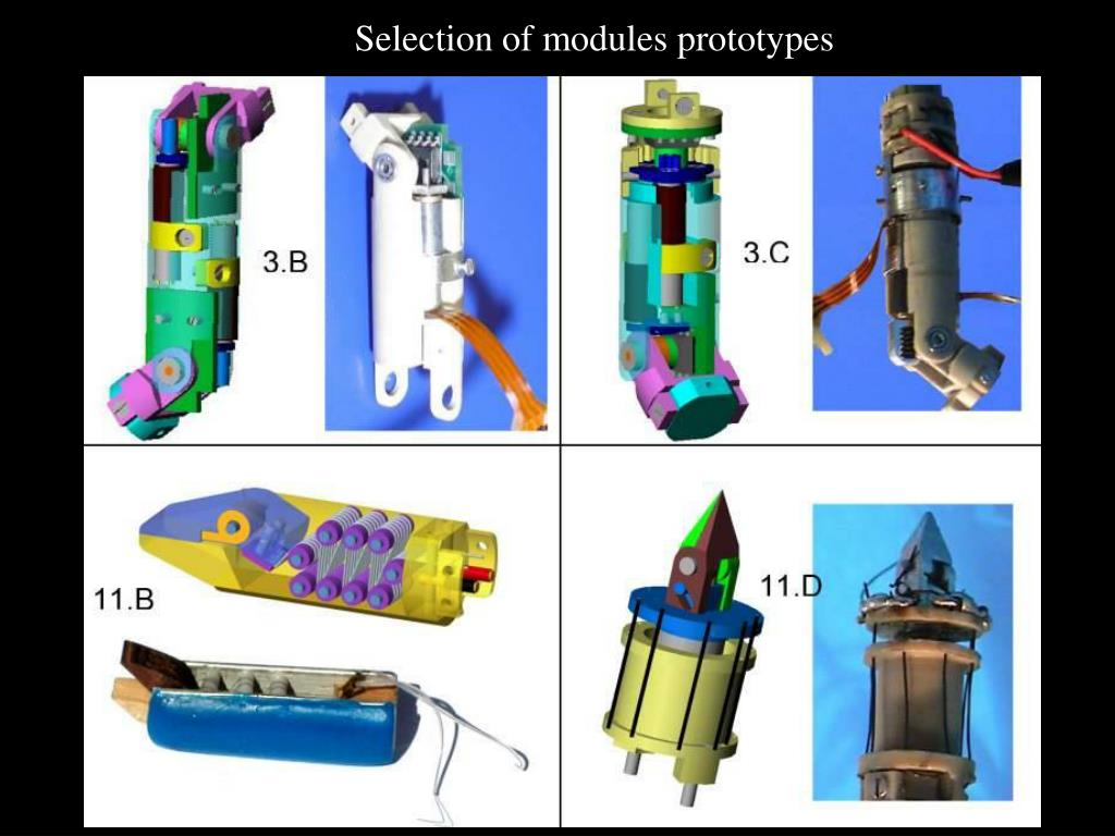 Selection of modules prototypes