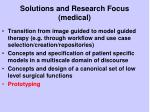 solutions and research focus medical