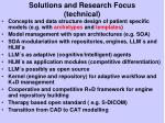 solutions and research focus technical
