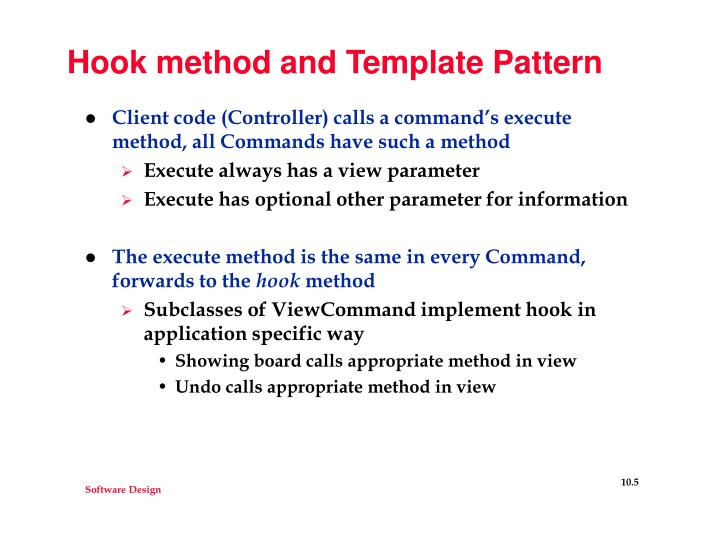 Hook method and Template Pattern
