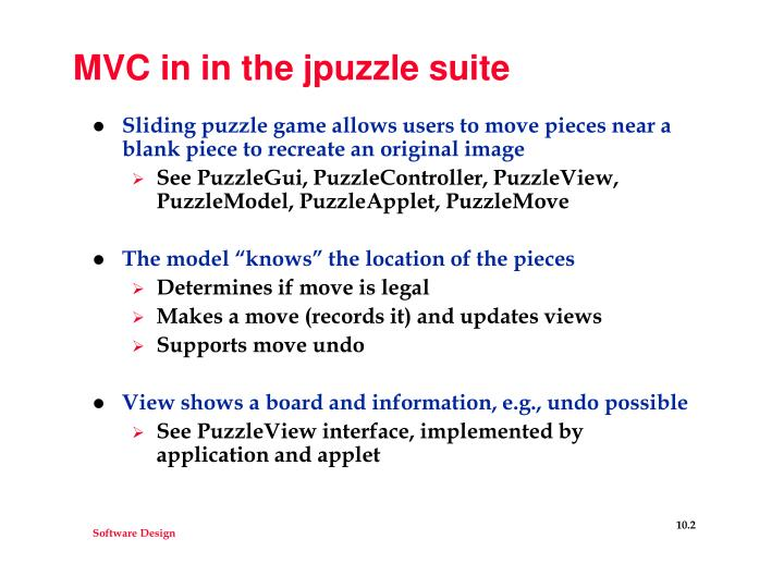 Mvc in in the jpuzzle suite