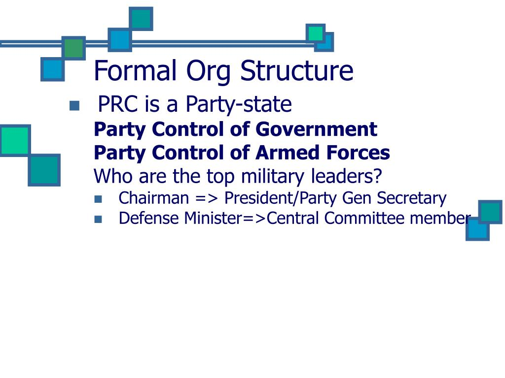 Formal Org Structure