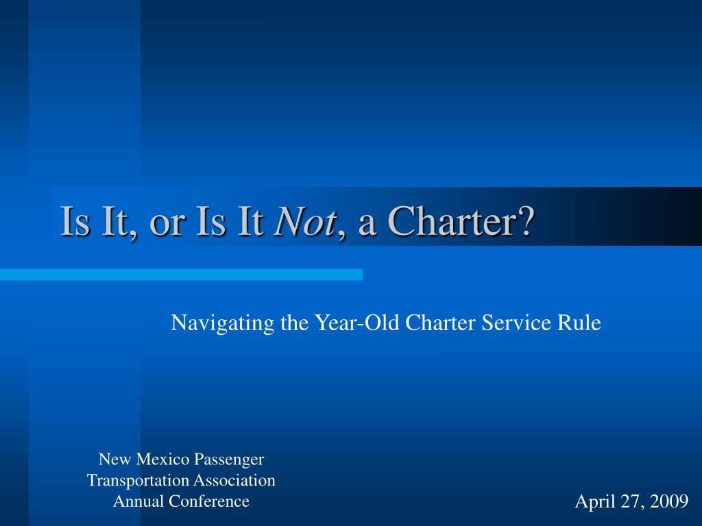 is it or is it not a charter l.