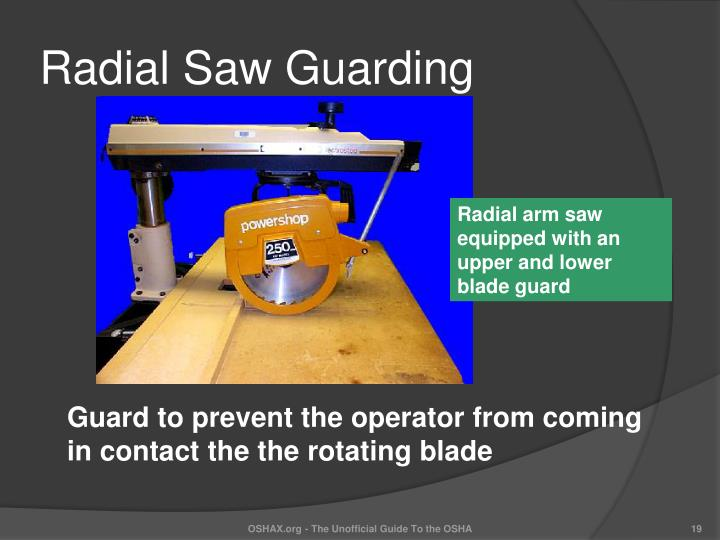 Radial Saw Guarding