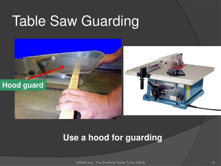 Table Saw Guarding