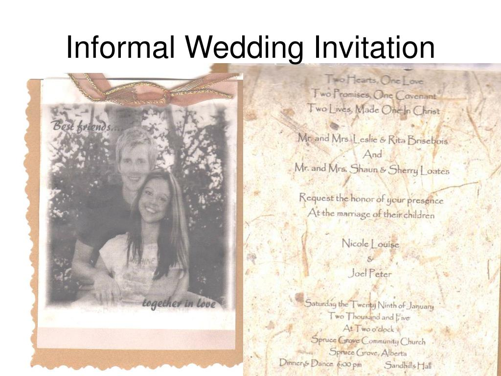 Informal Wedding Invitation