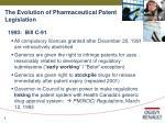 the evolution of pharmaceutical patent legislation8