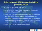 brief review of oecd countries linking practices for iip