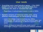 user needs8