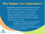why register your organization