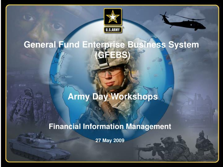 general fund enterprise business system gfebs army day workshops n.
