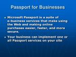 passport for businesses